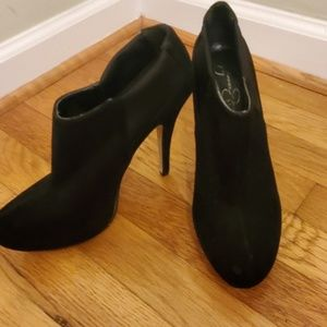 Jessica Simpson black high heel booties